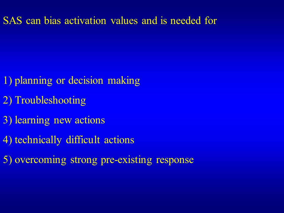 SAS can bias activation values and is needed for