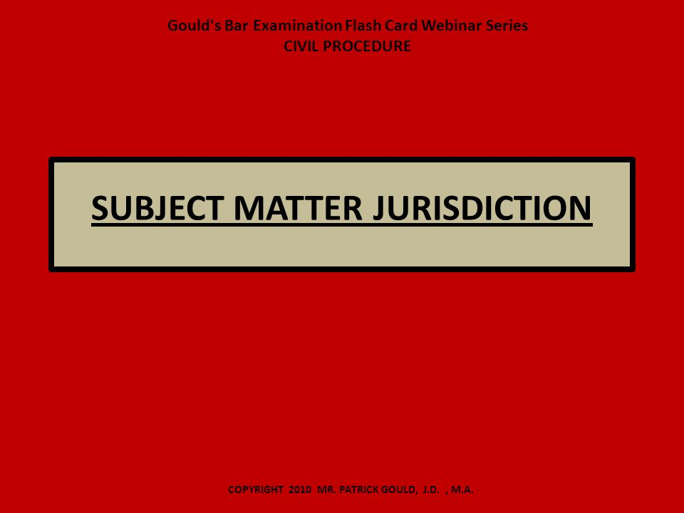 civil procedure subject matter jurisdiction essay writer