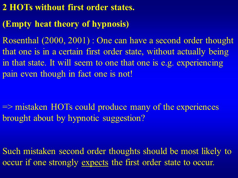 2 HOTs without first order states.
