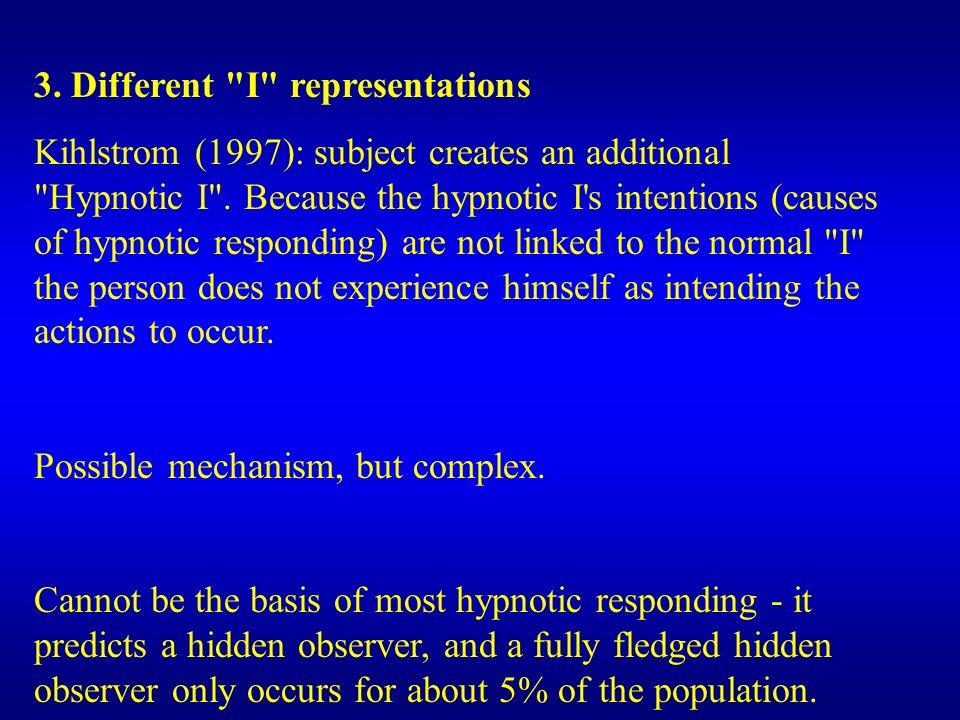 3. Different I representations