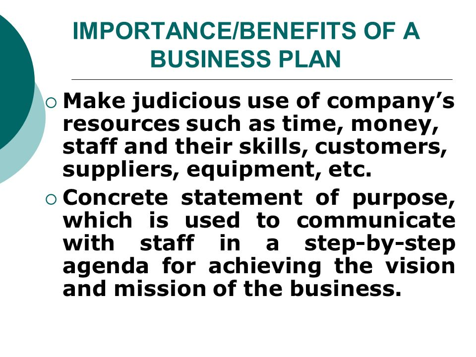importance of business planning wikipedia