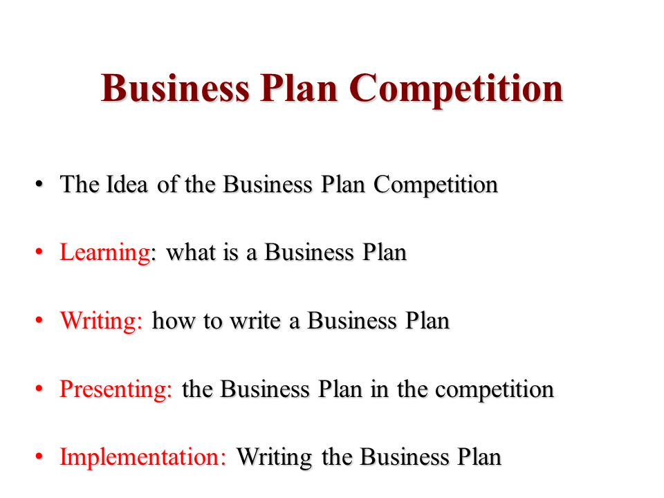 Questions about writing a business plan