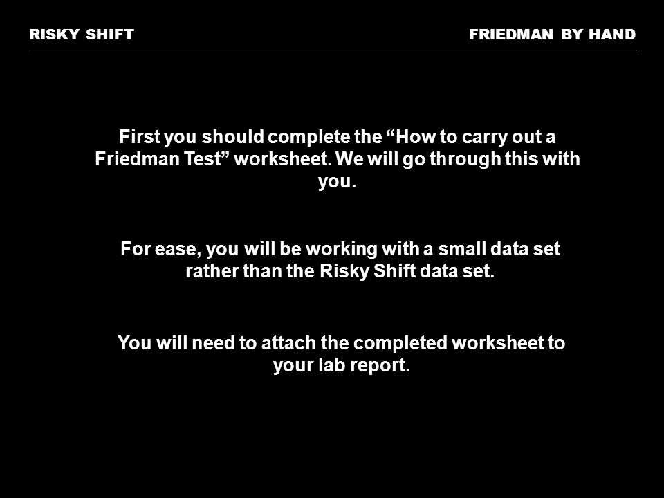 You will need to attach the completed worksheet to your lab report.