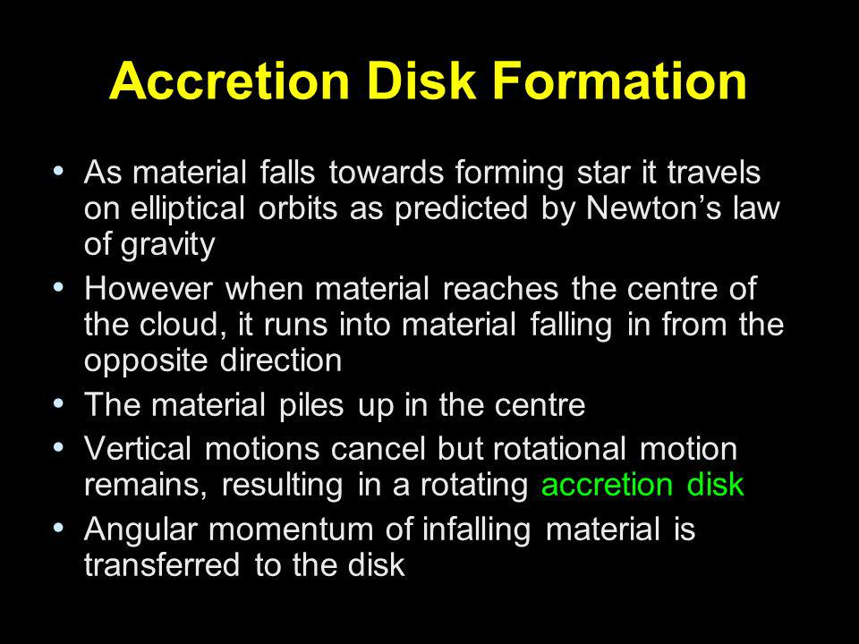 Accretion Disk Formation
