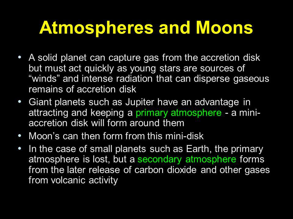 Atmospheres and Moons