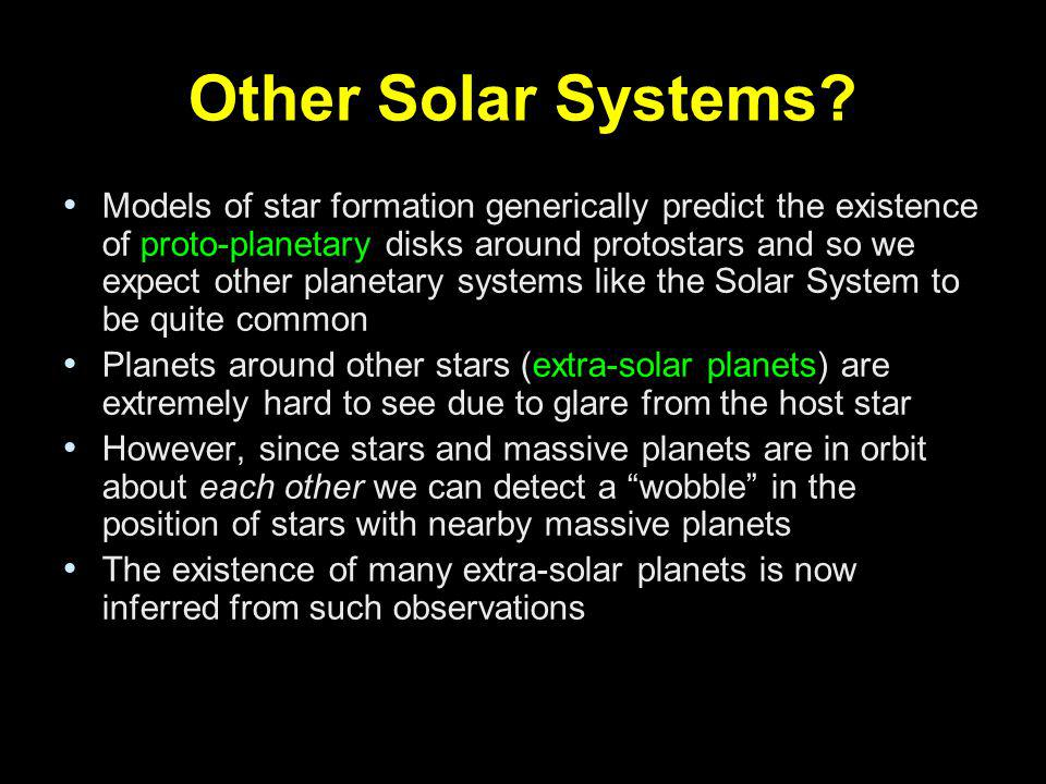 Other Solar Systems