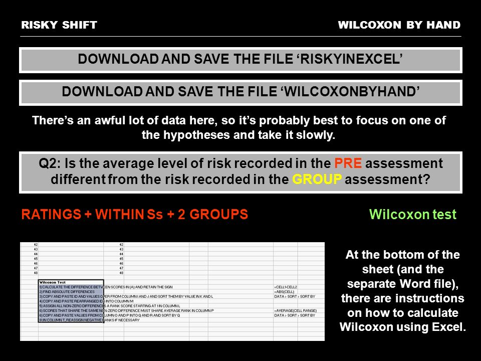 DOWNLOAD AND SAVE THE FILE 'RISKYINEXCEL'