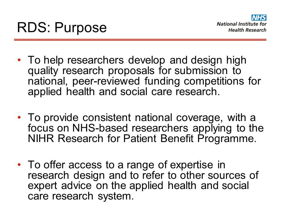 RDS: Purpose