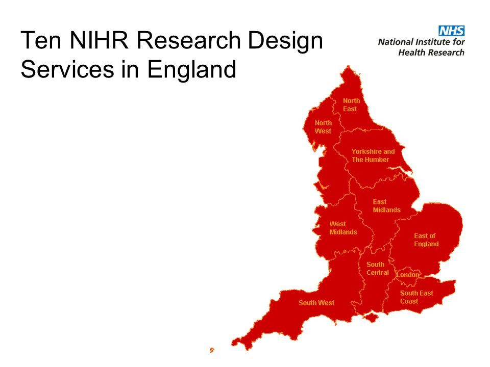 Ten NIHR Research Design Services in England