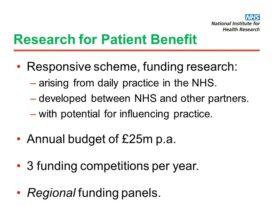 Research for Patient Benefit