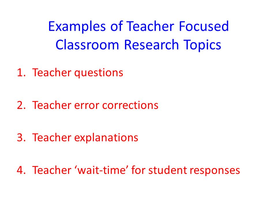 Classroom Research Ideas ~ Qualitative research classroom interaction analysis