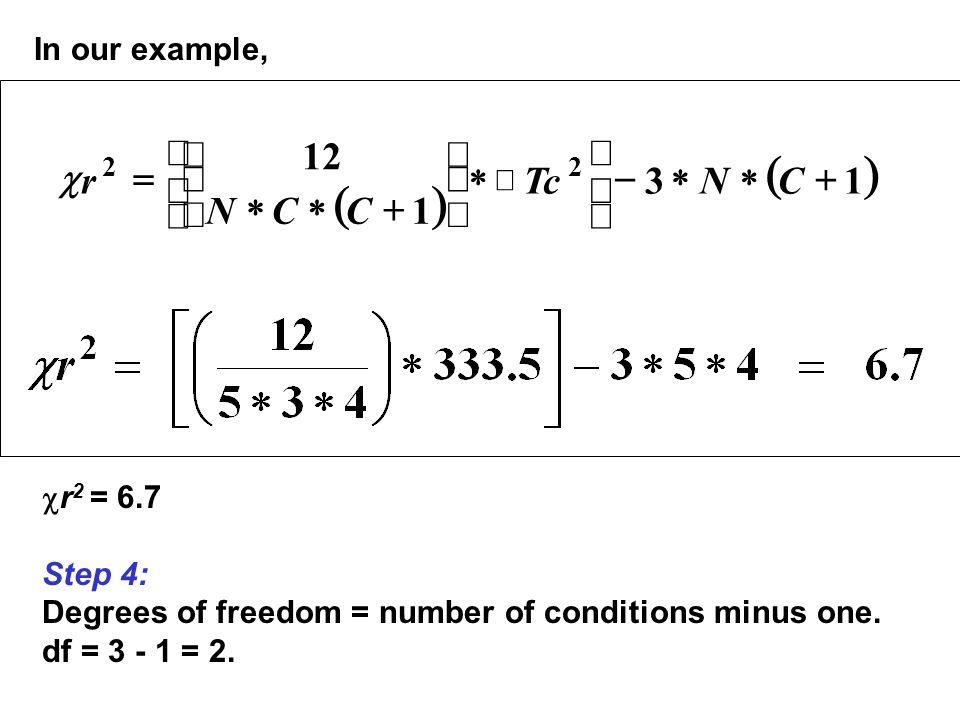 ( ) 1 3 12 + * - ú û ù ê ë é ÷ ø ö ç è æ = C N Tc r c In our example,