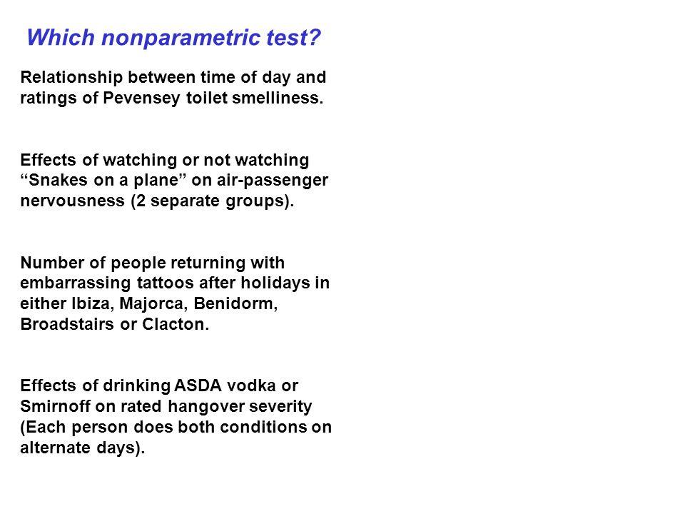 Which nonparametric test