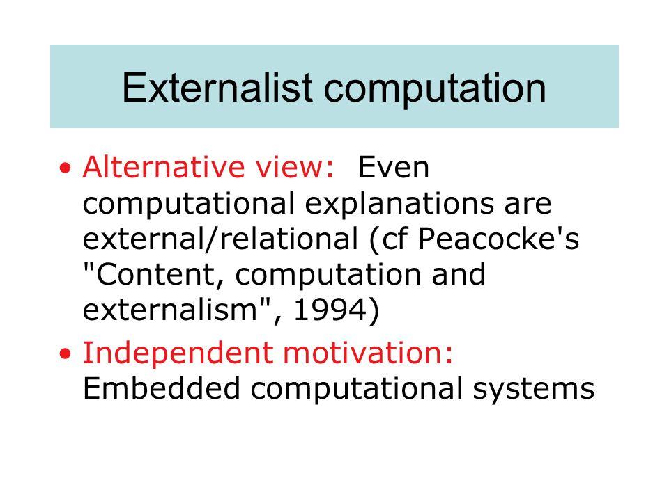 Externalist computation