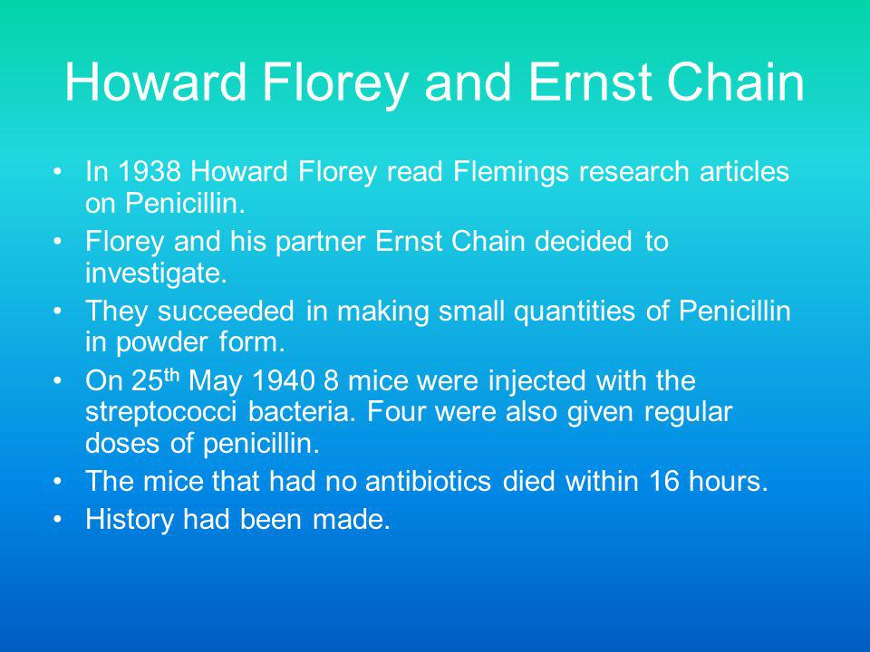Howard Florey and Ernst Chain