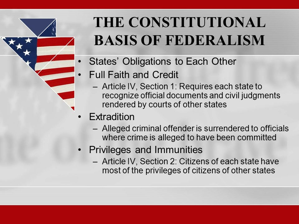 united states constitution and federalism Federalism: federalism, mode of  the constituent states, moreover, often retain constitution-making rights of  the united states and canada provide examples of.