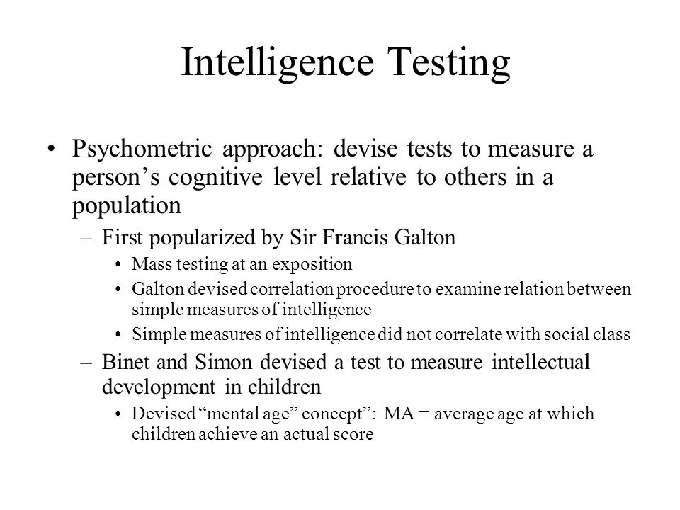 an introduction to intelligence testing Most educators and many psychologists think intelligence tests  human  intelligence: an introduction to advances in theory and research.