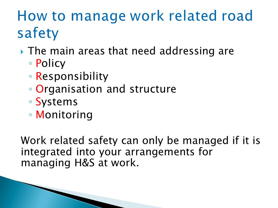 How to manage work related road safety