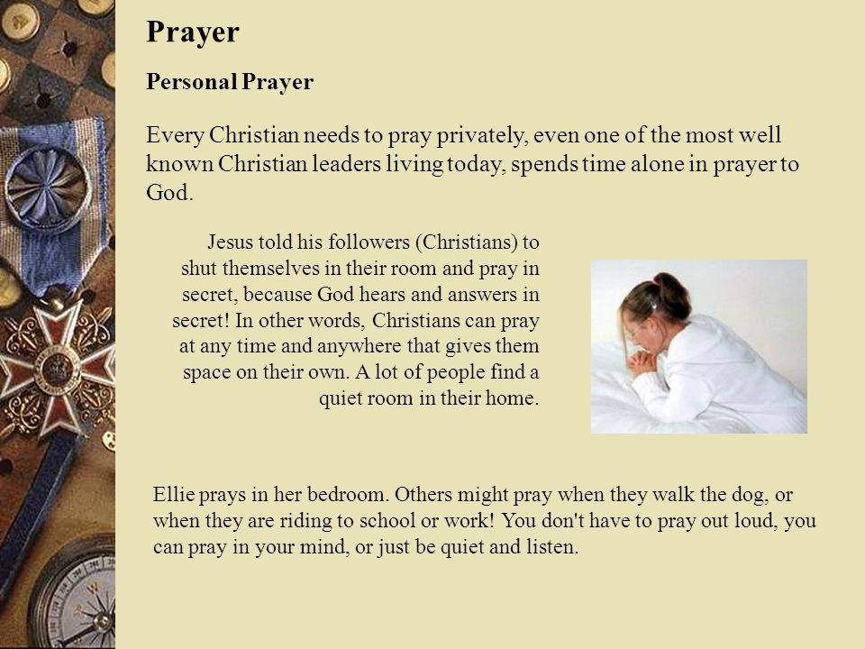 Prayer Personal Prayer