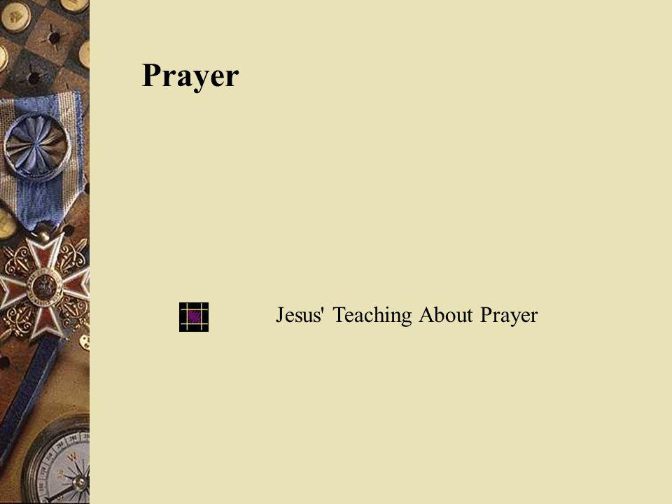 Prayer Jesus Teaching About Prayer