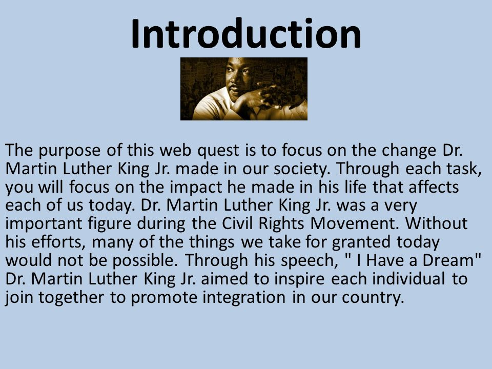 impact of martin luther essay Keywords: martin luther king, jr, love in international relations, war against terror, militarism, materialism, racism, african american international tradition, vietnam and international law, vietnam and civil rights, morality in us foreign policy, indivisibility of race and foreign policy.