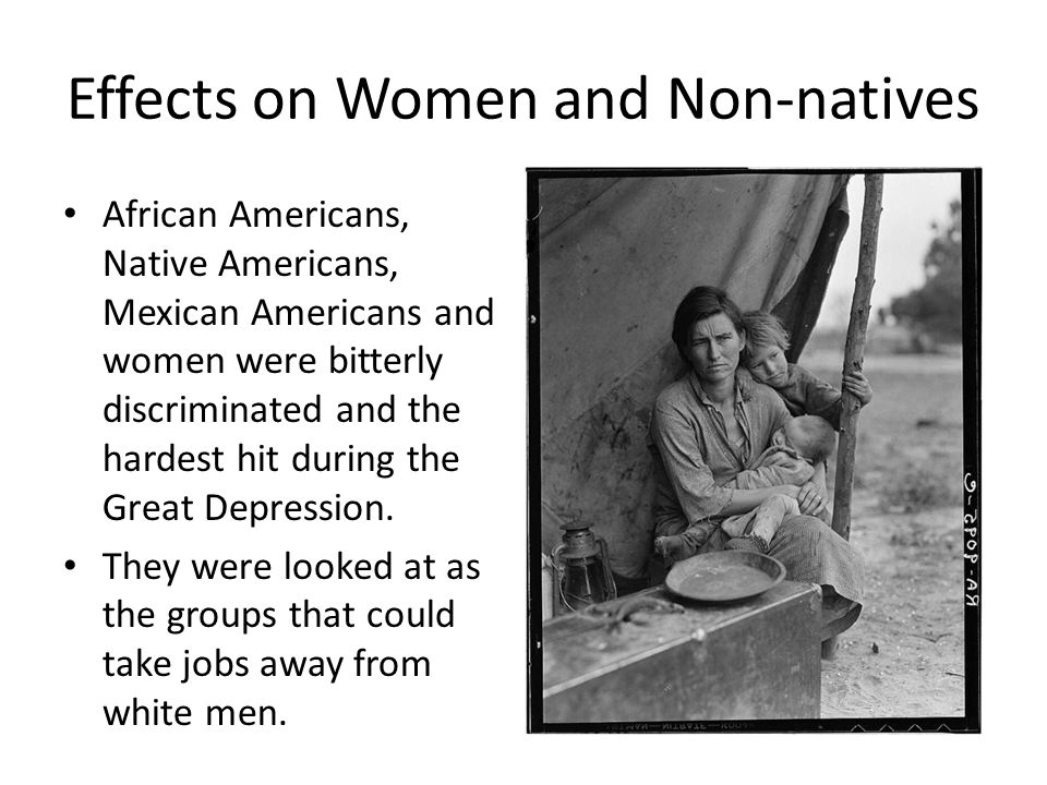 mexican americans and immigrants during the great depression essay Mexican americans and immigrants during the great depression essay 2638 words | 11 pages sufficient in supporting their families many people pursued the american dream, and there are plenty who still do today, and achieved it.