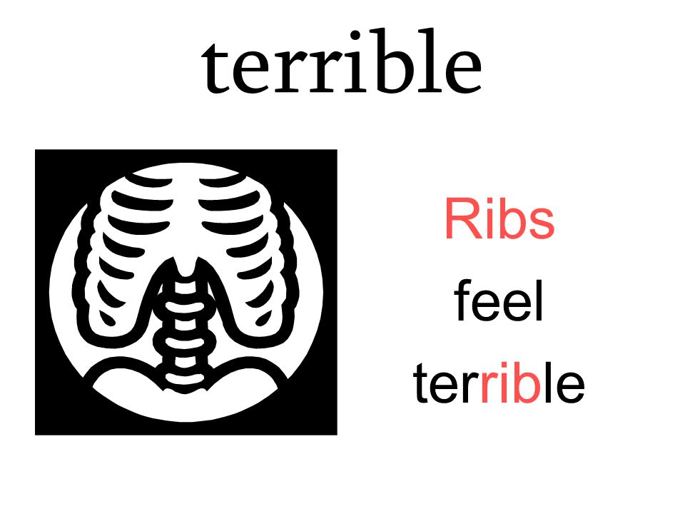 terrible Ribs feel terrible