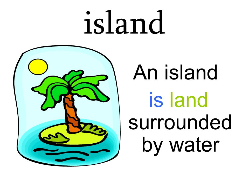 is land surrounded by water