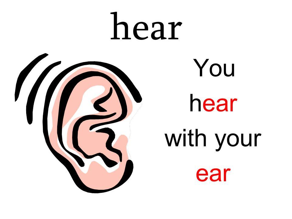 hear You hear with your ear
