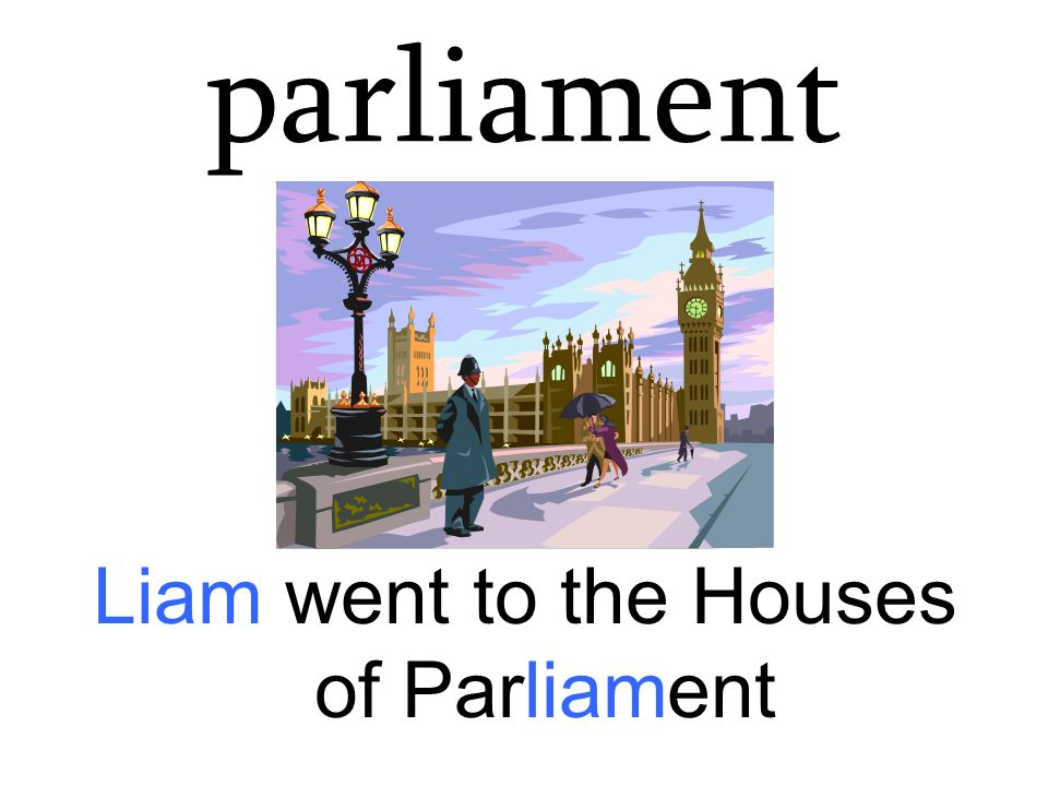 Liam went to the Houses of Parliament