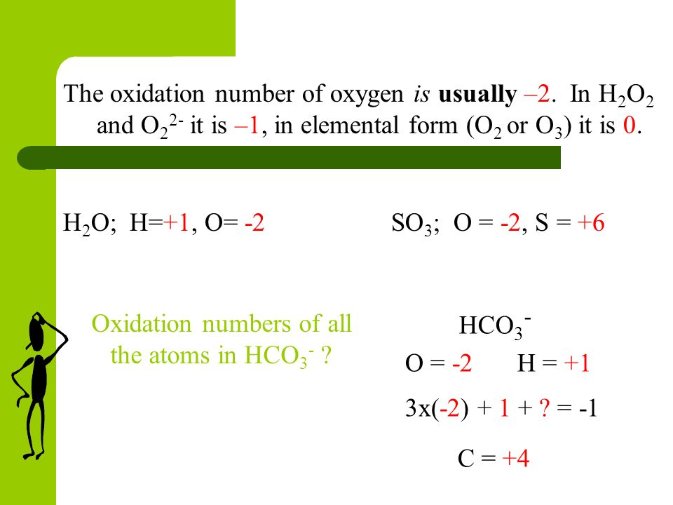 11 When combined oxygen is usually assigned an oxidation