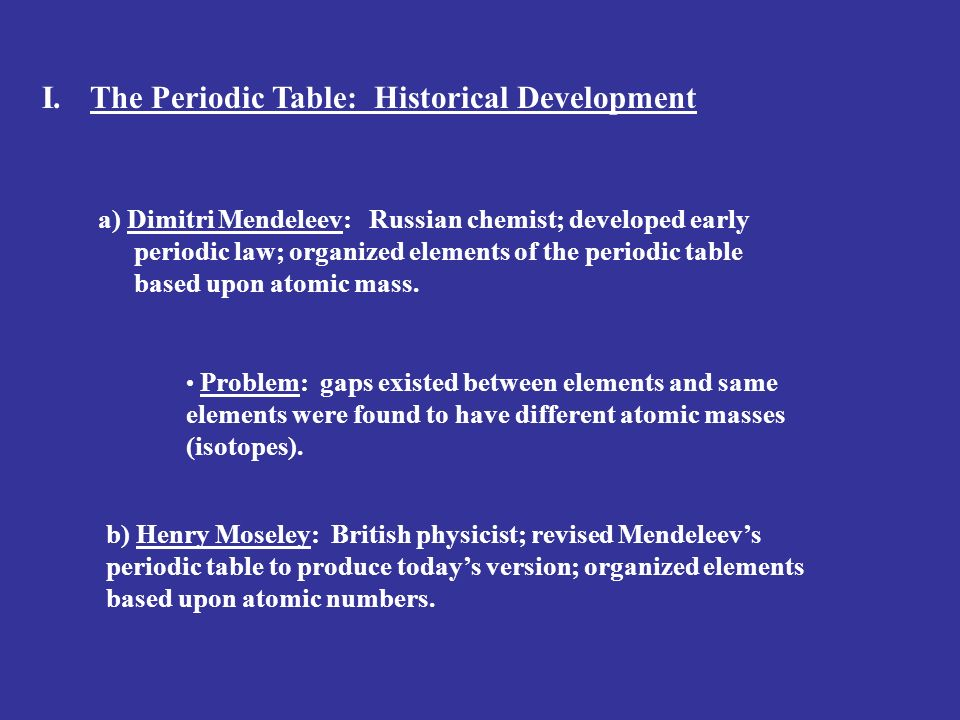 The periodic table of the elements ppt video online download the periodic table historical development urtaz Choice Image