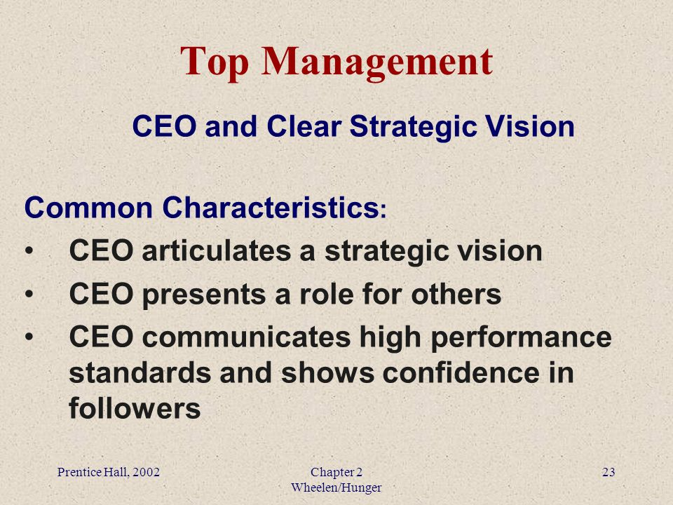role of ceo in strategic management pdf