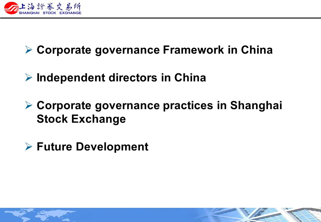 corporate governance bank of china With the state being both the principal shareholder and regulator of china's banks, corporate governance 7 corporate governance in china's china bank pay.