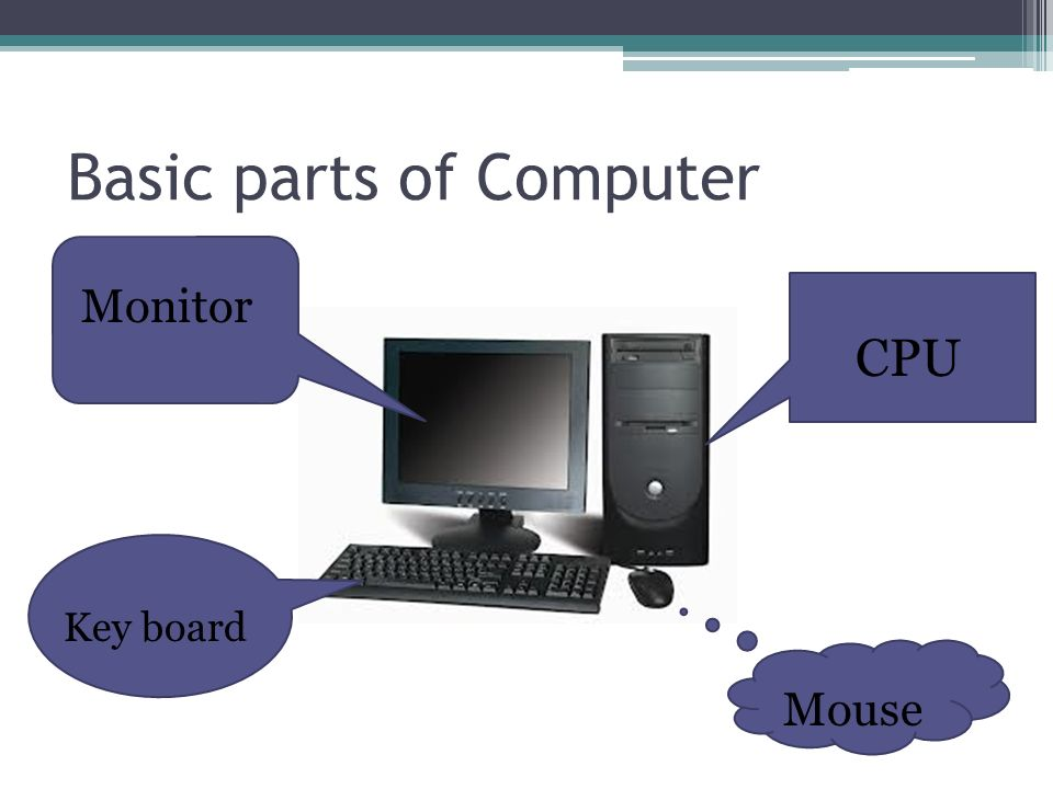 Basic Parts Of A Motherboard: Computer Basic By: Ploy G7J.