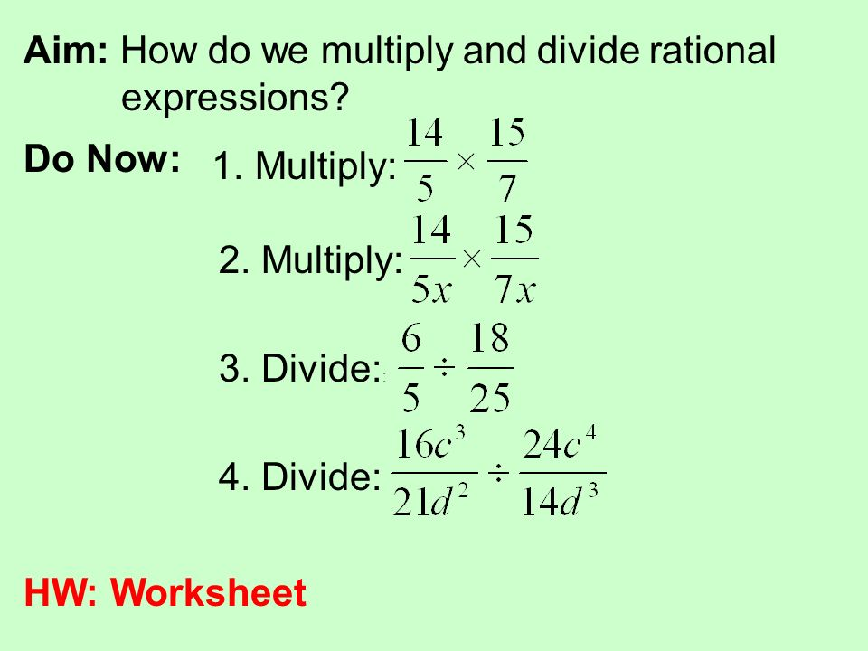 Rational Expression Worksheet 4 Multiplying Answers – careless.me