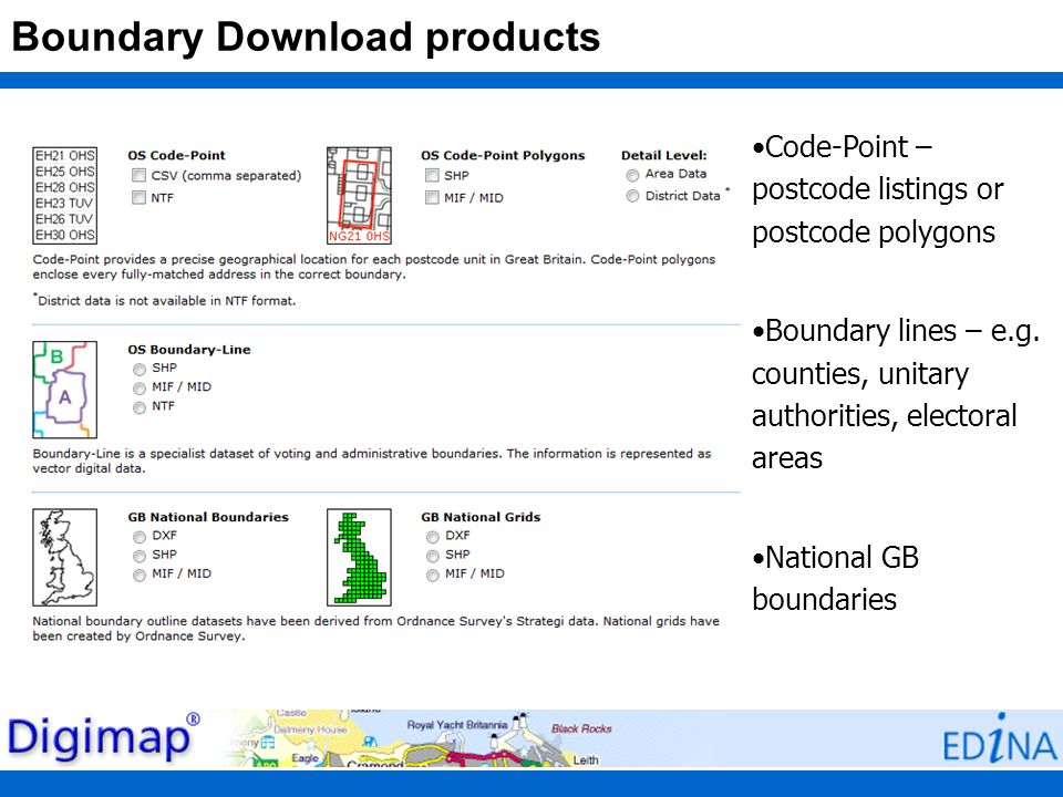 Boundary Download products