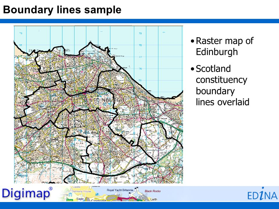 Boundary lines sample Raster map of Edinburgh