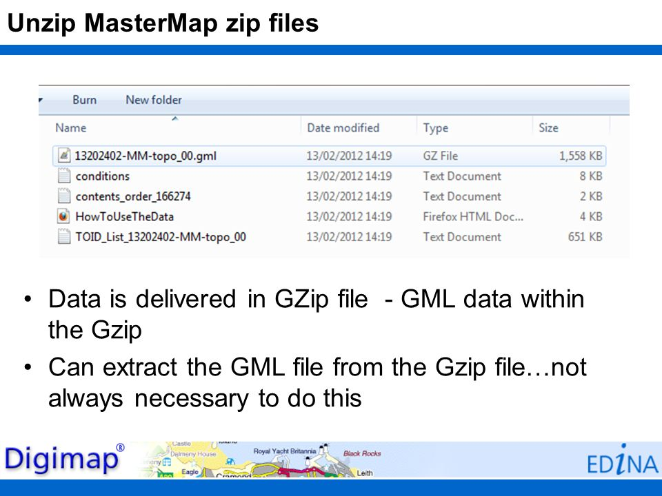 Unzip MasterMap zip files