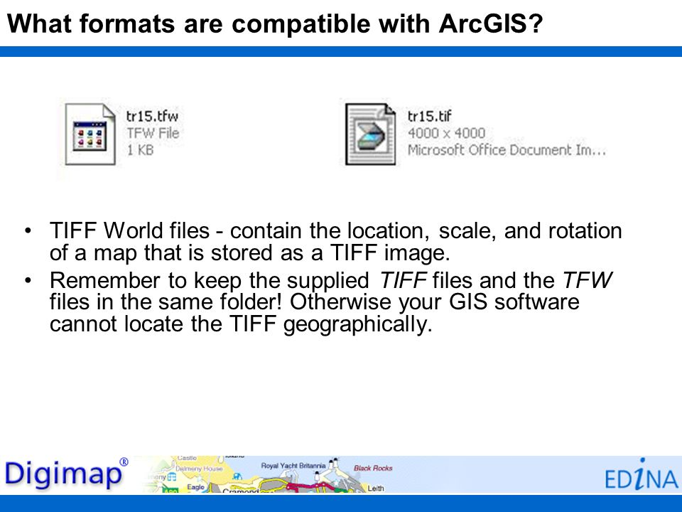 What formats are compatible with ArcGIS