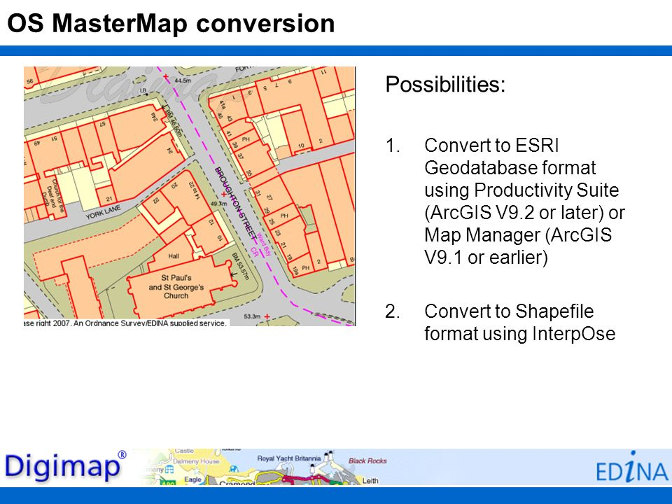 OS MasterMap conversion