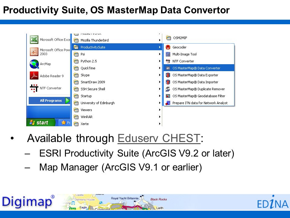 Productivity Suite, OS MasterMap Data Convertor