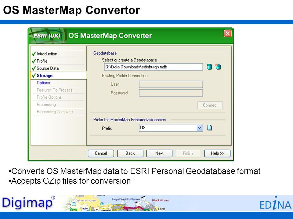 OS MasterMap Convertor