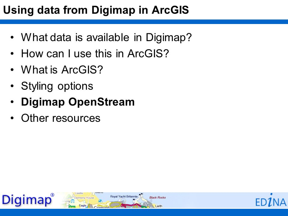 Using data from Digimap in ArcGIS