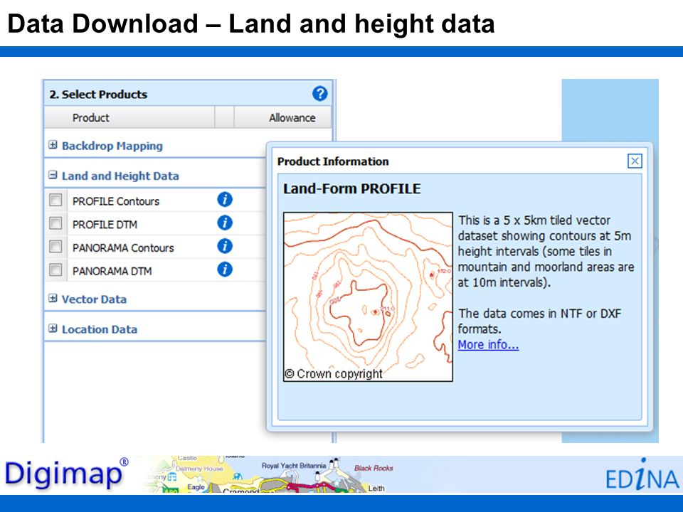 Data Download – Land and height data