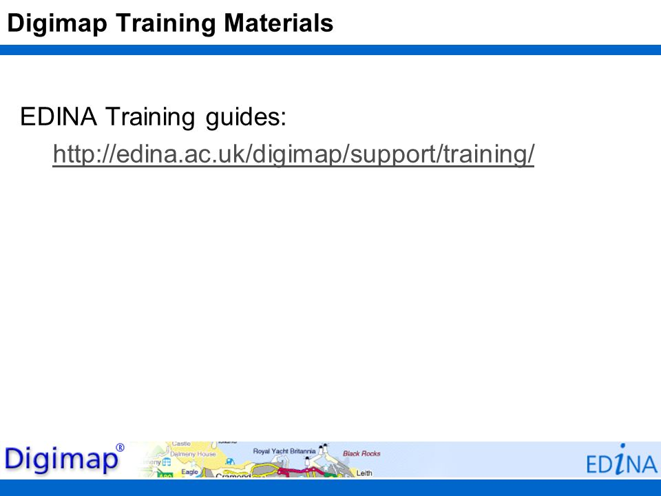 Digimap Training Materials