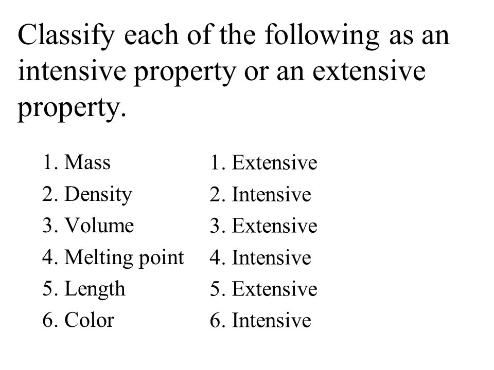 Is Hardness A Extensive Or Intensive Physical Property