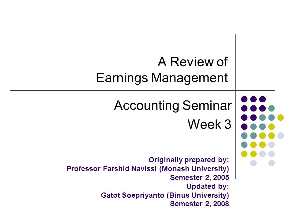 Earnings management. Ppt download.