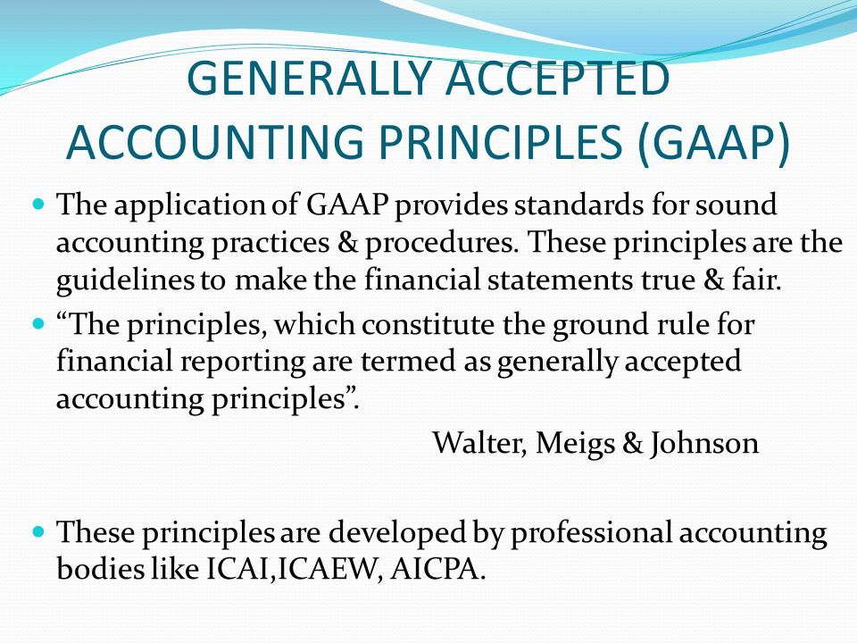 generally accepted accounting practices essay Course hero has thousands of generally accepted accounting principles (gaap)  study  generally accepted accounting principles (gaap) essays view all.