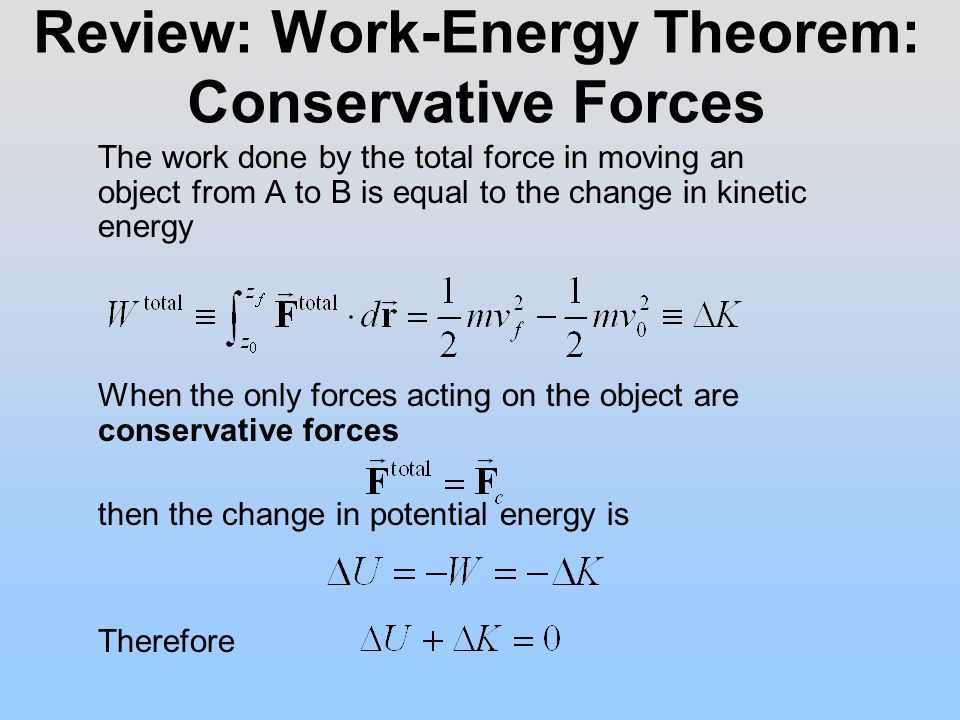 Energy Transformations and Conservation of Mechanical Energy 8 – Work Energy Theorem Worksheet